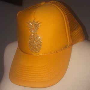 "Blinged Out Pineapple ""trucker"" hat"